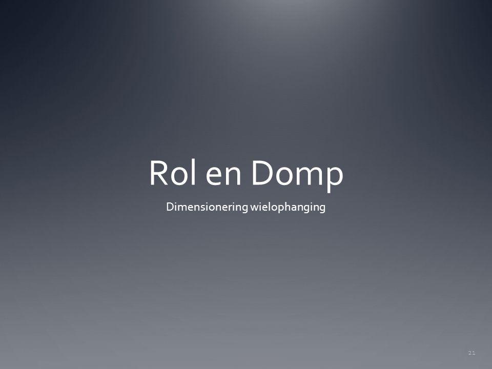 Rol en Domp Dimensionering wielophanging 21