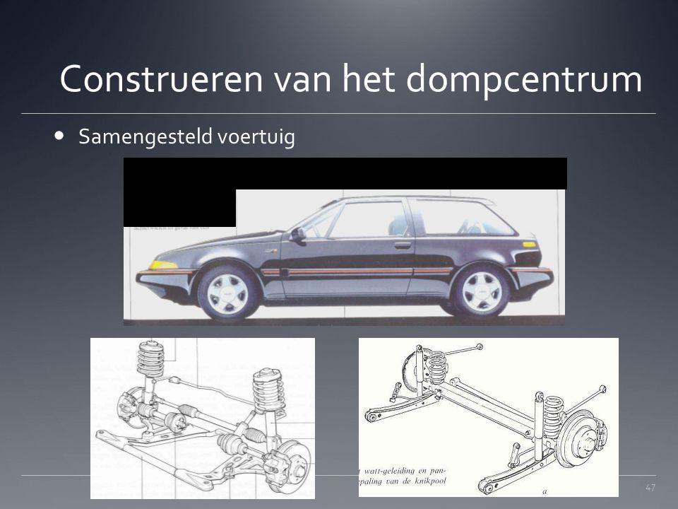 Construeren van het dompcentrum Samengesteld voertuig 47