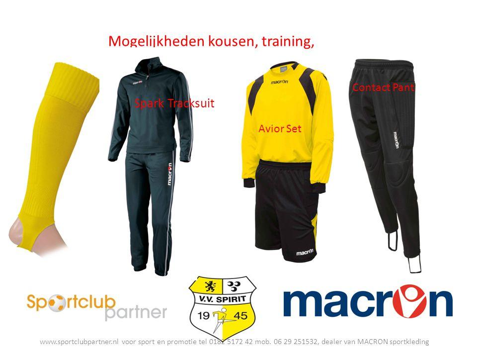 Mogelijkheden kousen, training, keeper Spark Tracksuit Avior Set Contact Pant www.sportclubpartner.nl voor sport en promotie tel 0182 5172 42 mob.