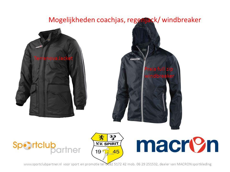 Mogelijkheden coachjas, regenjack/ windbreaker Terranova Jacket Praia full zip windbreaker www.sportclubpartner.nl voor sport en promotie tel 0182 5172 42 mob.