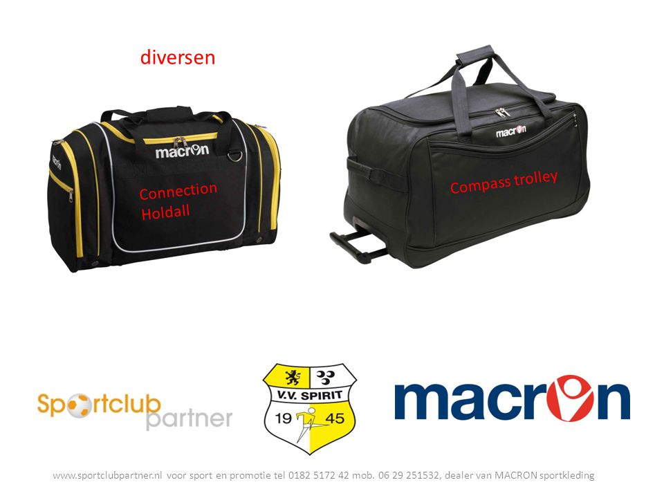 diversen Connection Holdall Compass trolley www.sportclubpartner.nl voor sport en promotie tel 0182 5172 42 mob.