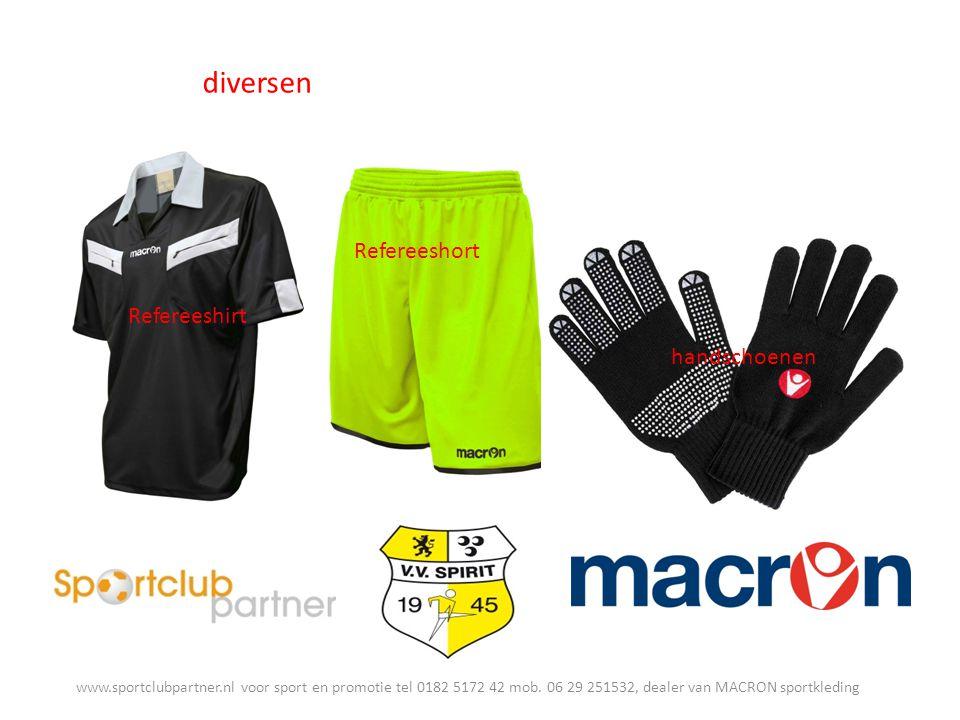 diversen Refereeshirt www.sportclubpartner.nl voor sport en promotie tel 0182 5172 42 mob.