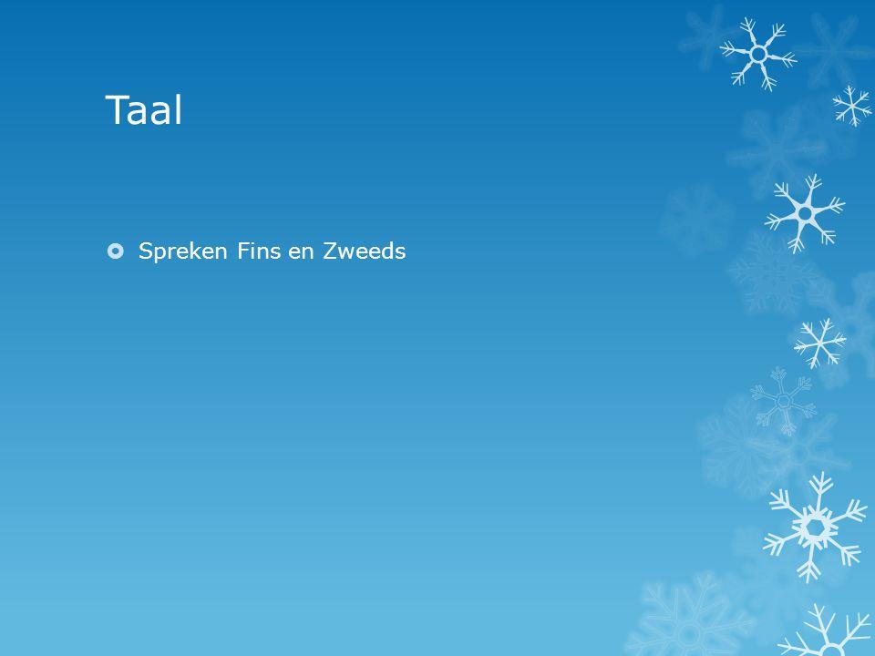 Taal  Spreken Fins en Zweeds