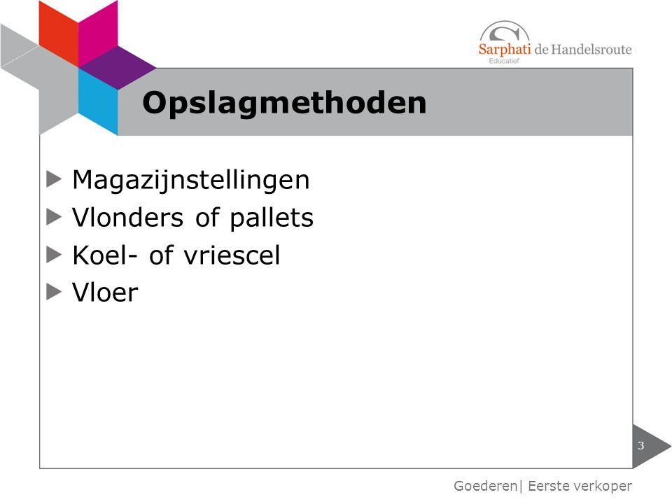 Magazijnstellingen Vlonders of pallets Koel- of vriescel Vloer 3 Goederen| Eerste verkoper Opslagmethoden