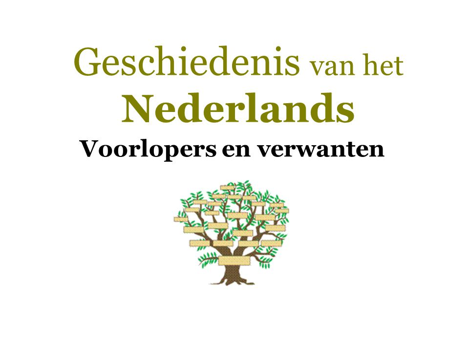 Geschiedenis van het Nederlands  Voorlopers en verwanten  Monogenese-hypothese  Polygenese-hypothese