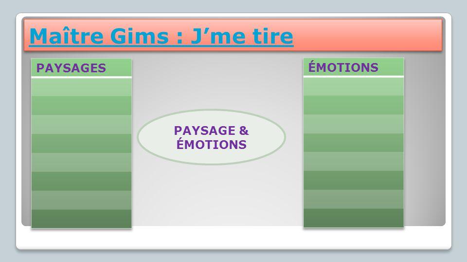 Maître Gims : J'me tire PAYSAGE & ÉMOTIONS