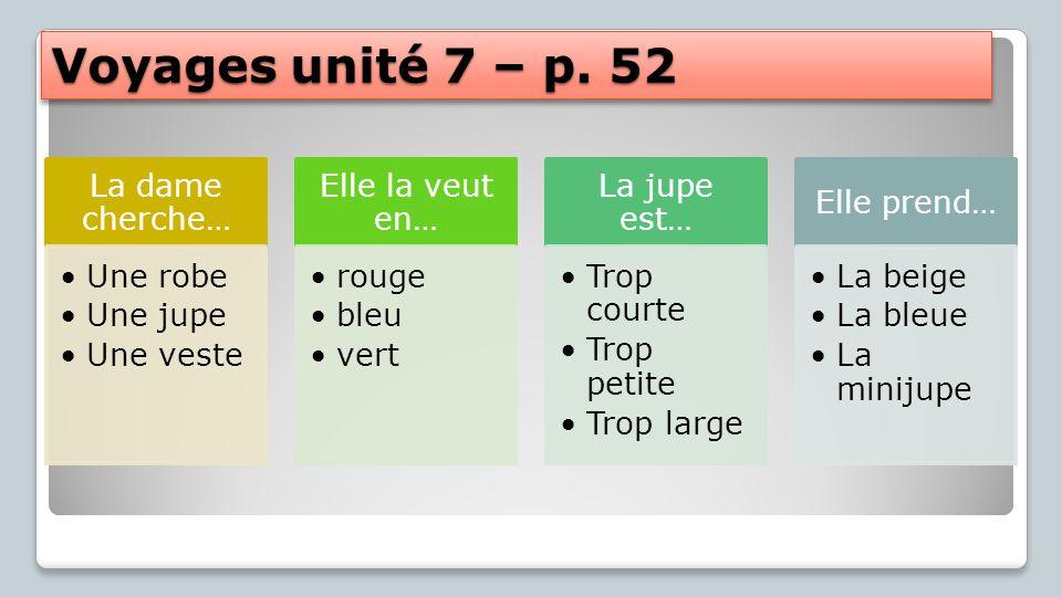 Voyages unité 7 – p.