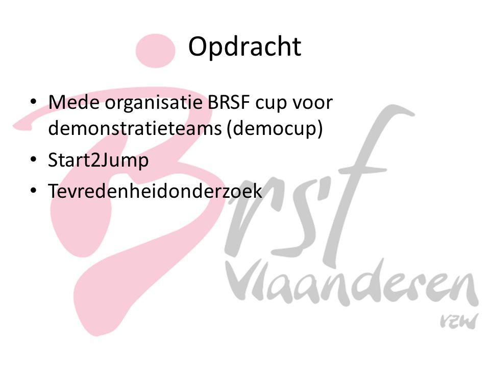 Opdracht Mede organisatie BRSF cup voor demonstratieteams (democup) Start2Jump Tevredenheidonderzoek