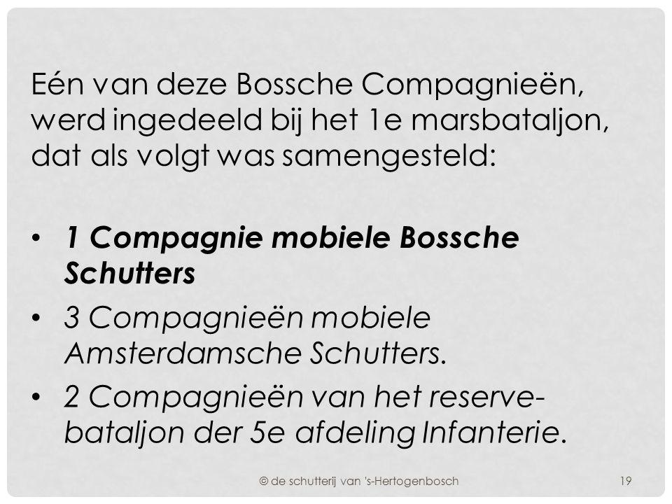 Deze mobielverklaring hield in, dat de betreffende schutters dezelfde rechten en plichten hadden als de leden der krijgsmacht welke gelegen waren in