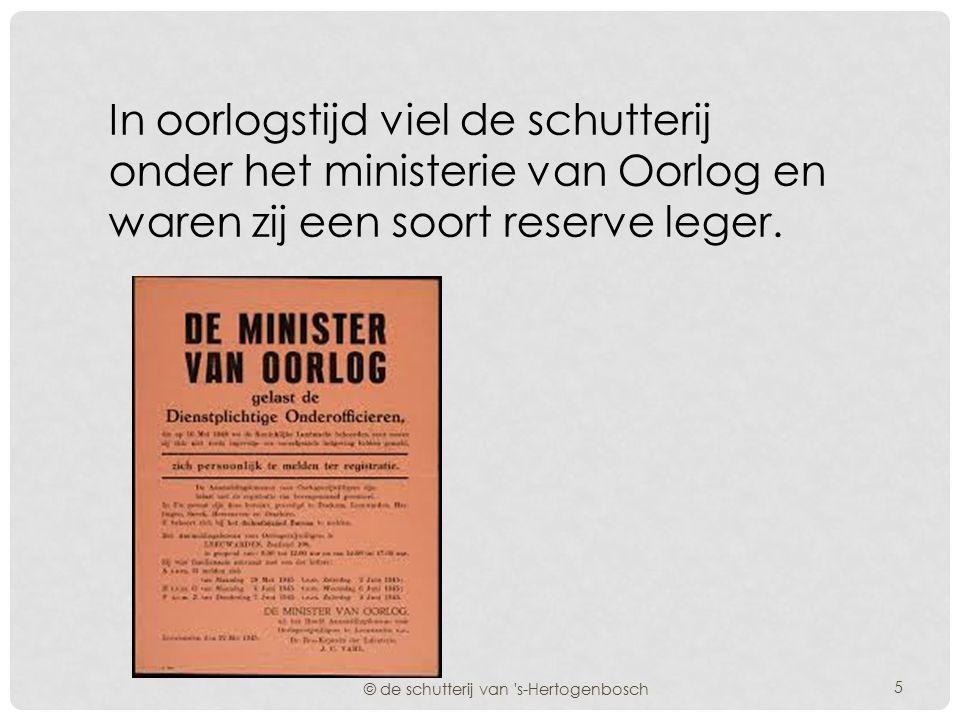 In vredestijd vielen zij onder het ministerie van Binnenlandse Zaken en waren zij mede verantwoordelijk voor het handhaven van de orde in de plaatseli