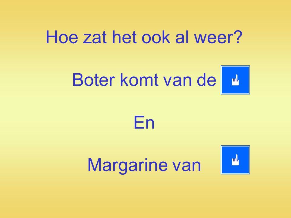 M argarine is ……..Zie foto Margarine wordt gemaakt van plantaardige oliën.
