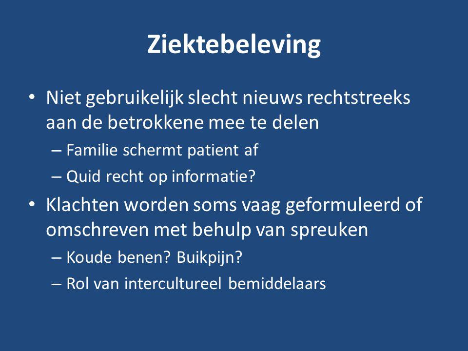Globaal is er geen verschil met de medische opvattingen noch met de Belgische wettelijke regelgeving.