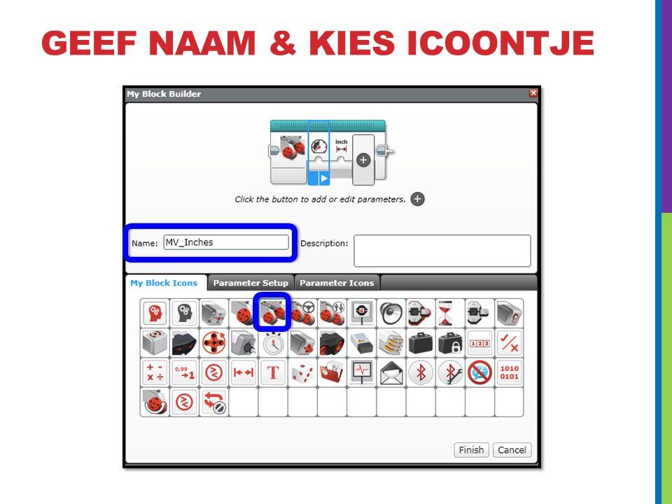 GEEF NAAM & KIES ICOONTJE
