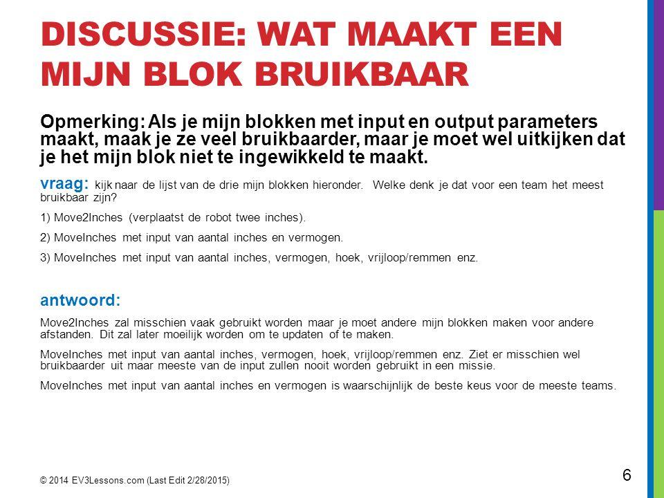 SAMENVATTING: HOE MAAK JE EEN MIJN BLOK stap 1: selecteer de blokken die je denkt te hergebruiken.