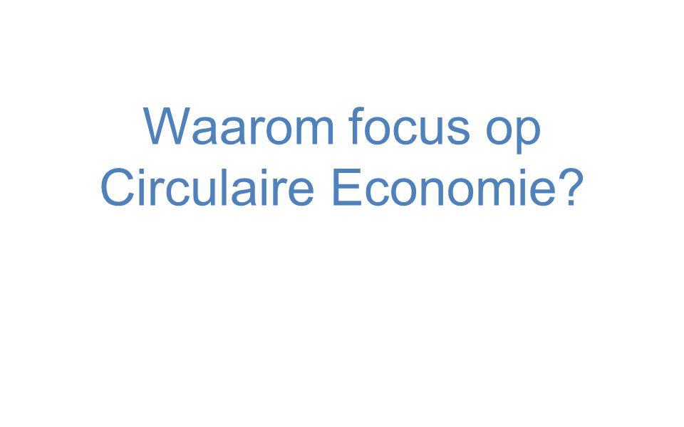 Waarom focus op Circulaire Economie?