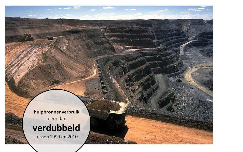 hulpbronnenverbruik meer dan verdubbeld tussen 1990 en 2010