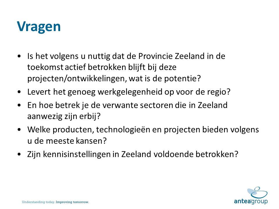 Vragen Is het volgens u nuttig dat de Provincie Zeeland in de toekomst actief betrokken blijft bij deze projecten/ontwikkelingen, wat is de potentie.