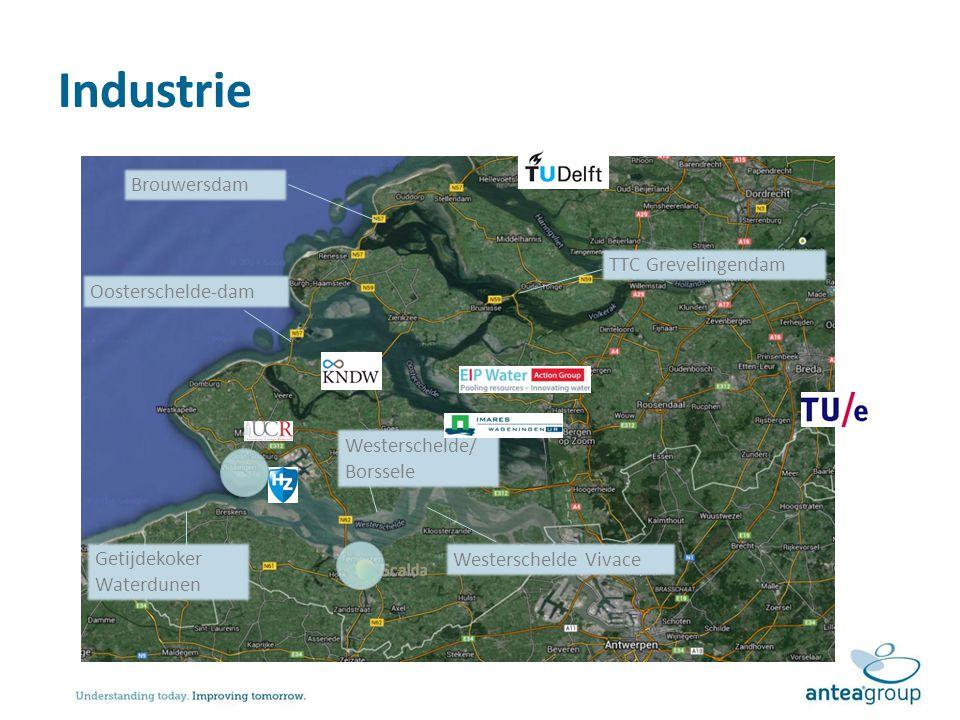 Industrie Brouwersdam Oosterschelde-dam TTC Grevelingendam Westerschelde/ Borssele Westerschelde Vivace Getijdekoker Waterdunen