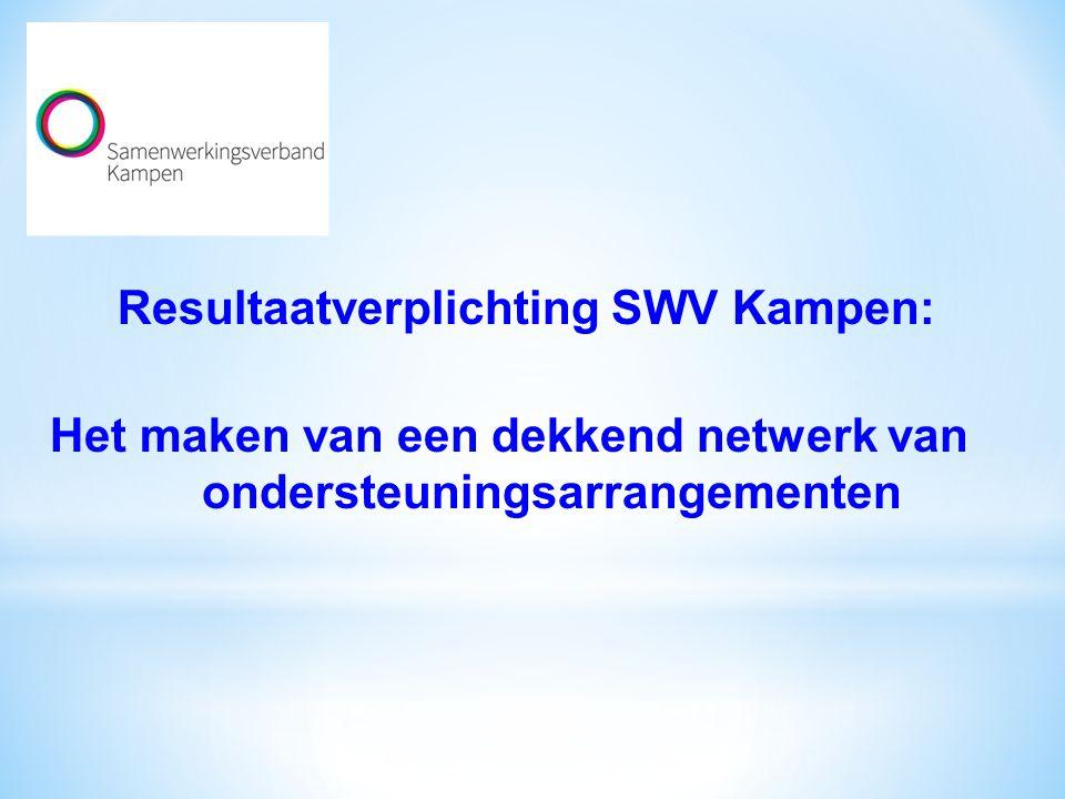 Resultaatverplichting SWV Kampen: Het maken van een dekkend netwerk van ondersteuningsarrangementen