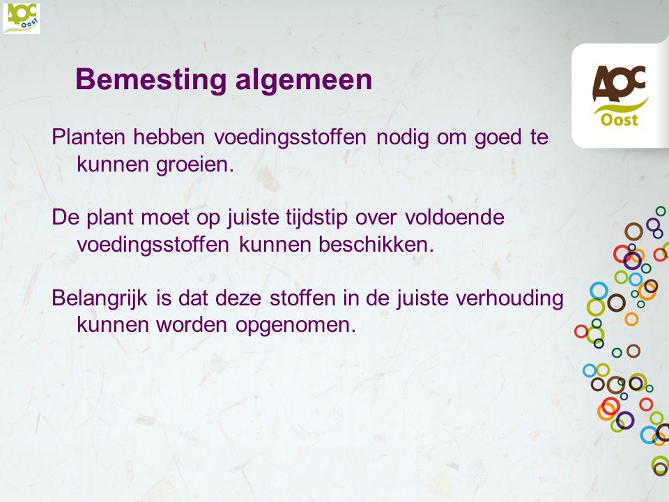 Bodem & Bemesting Versie 1. R. Mensink, AOC Oost Versie 2. M. Geltink, AOC Oost