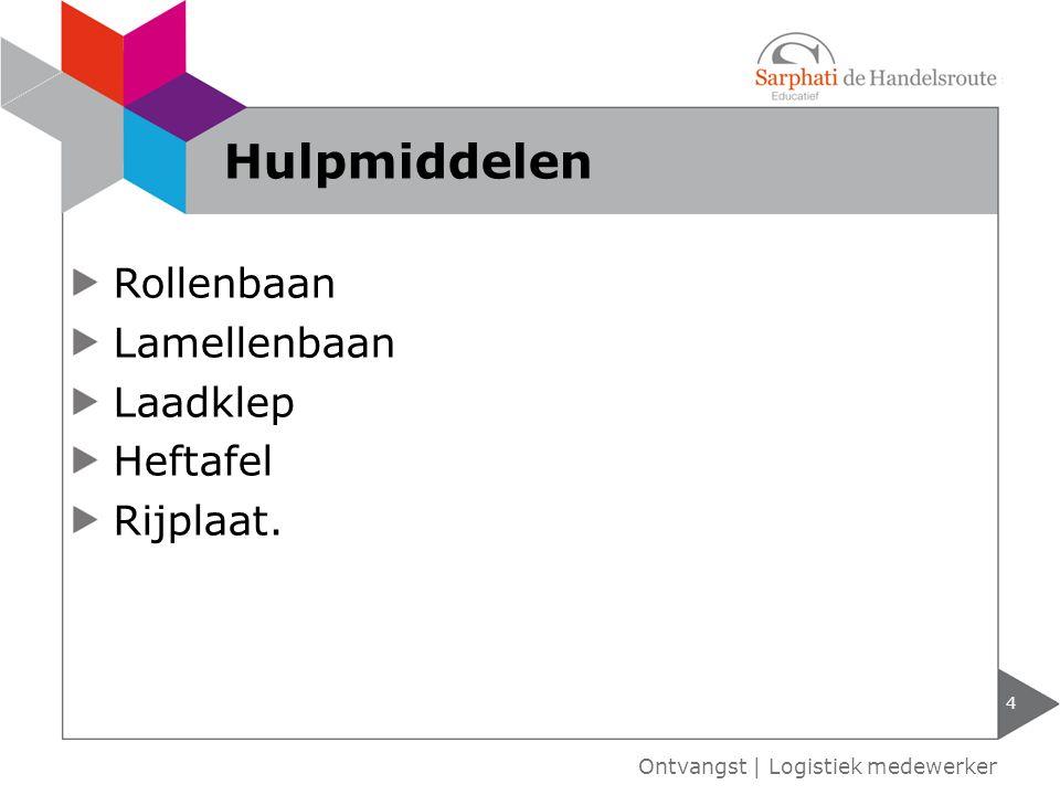 Rollenbaan Lamellenbaan Laadklep Heftafel Rijplaat. 4 Ontvangst | Logistiek medewerker Hulpmiddelen