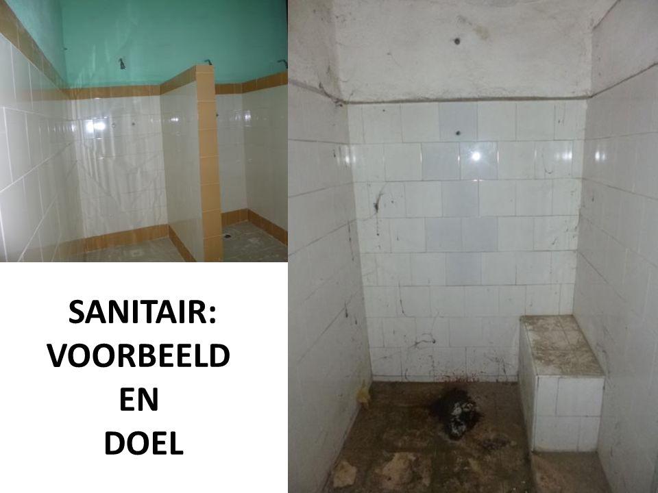 SANITAIR: VOORBEELD EN DOEL