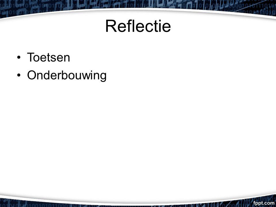 Reflectie Toetsen Onderbouwing