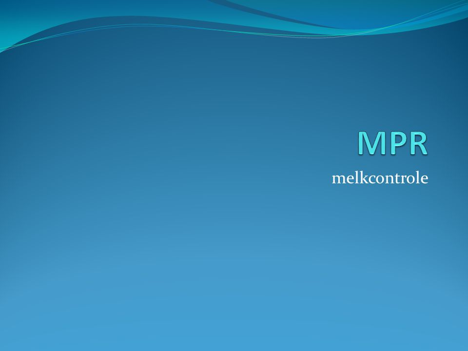 Inleiding Periodieke melkcontrole Kg melk Gehalte's Celgetal Ureum