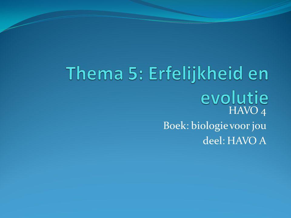 HAVO 4 Boek: biologie voor jou deel: HAVO A