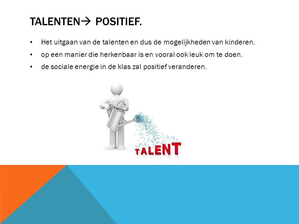 TALENTEN  POSITIEF.Het uitgaan van de talenten en dus de mogelijkheden van kinderen.