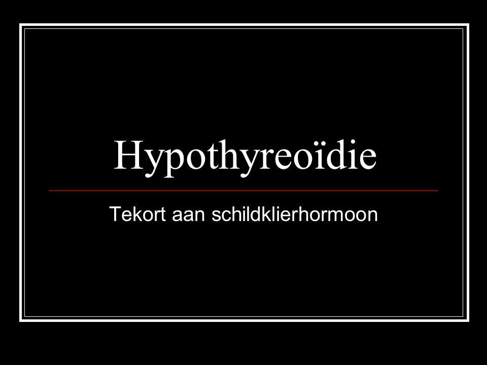 Hyperthyreoïdie Overmaat schildklierhormoon
