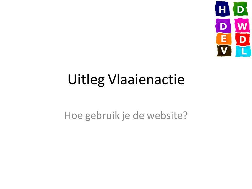 Uitleg Vlaaienactie Hoe gebruik je de website?
