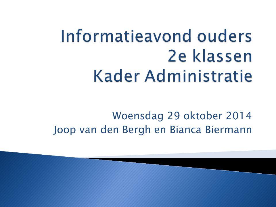 Woensdag 29 oktober 2014 Joop van den Bergh en Bianca Biermann