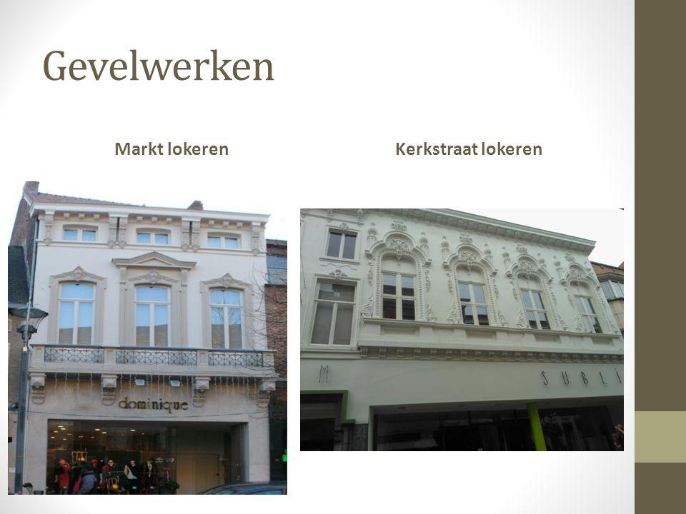 Gevelwerken Markt lokerenKerkstraat lokeren