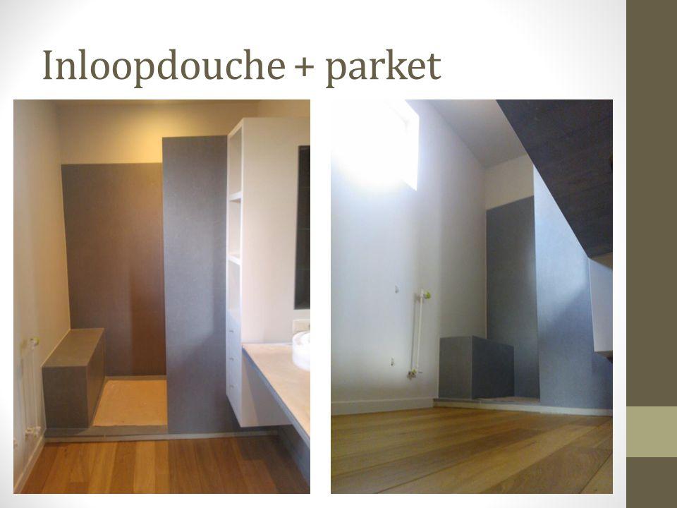 Inloopdouche + parket