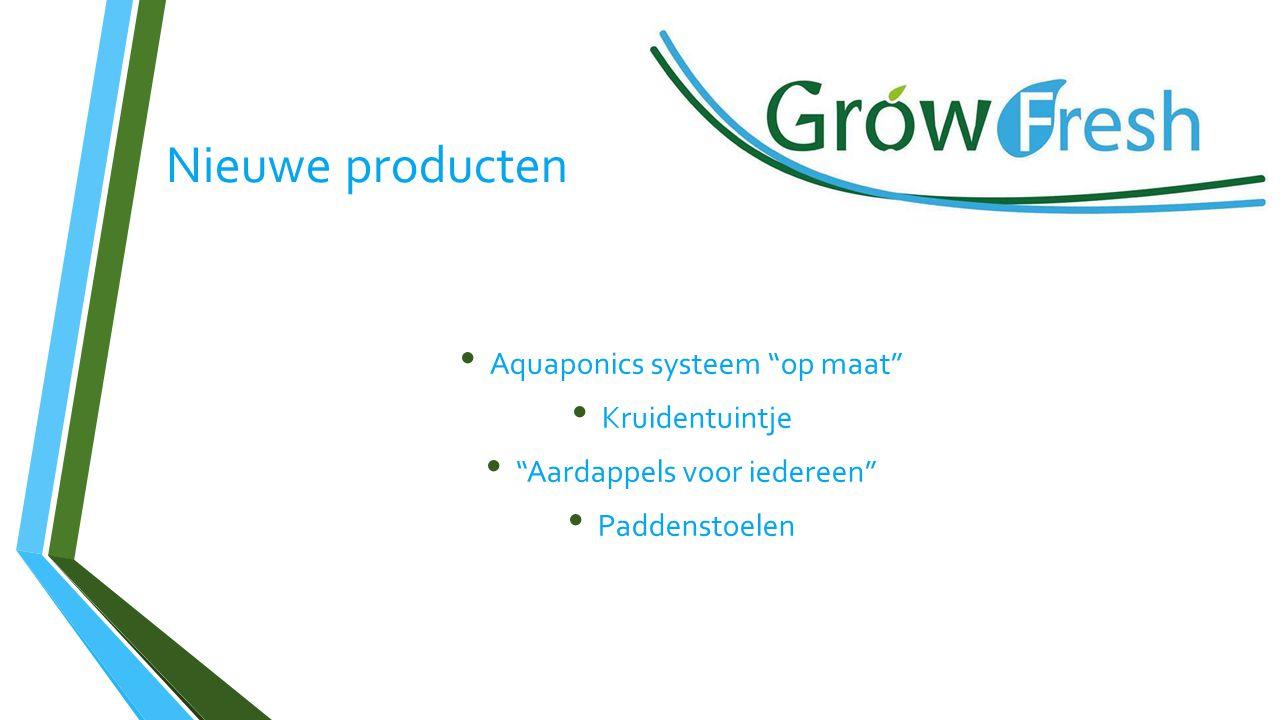 Nieuwe producten Aquaponics systeem op maat Kruidentuintje Aardappels voor iedereen Paddenstoelen