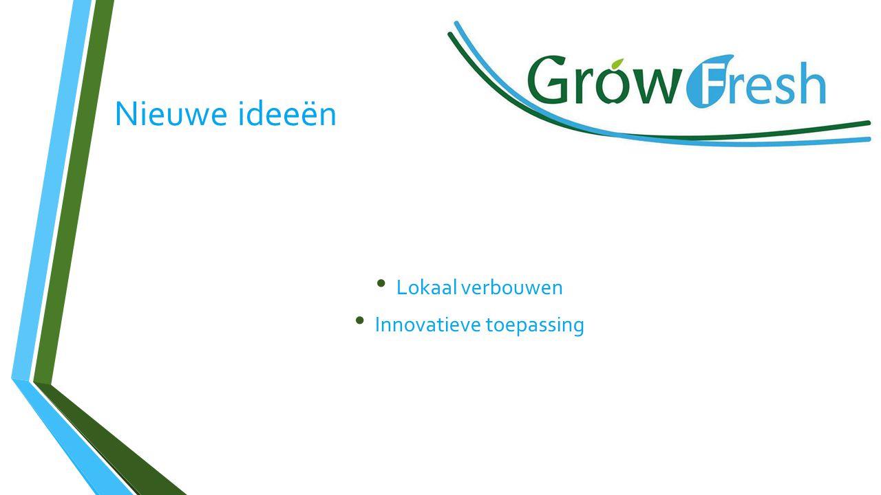 Nieuwe ideeën Lokaal verbouwen Innovatieve toepassing