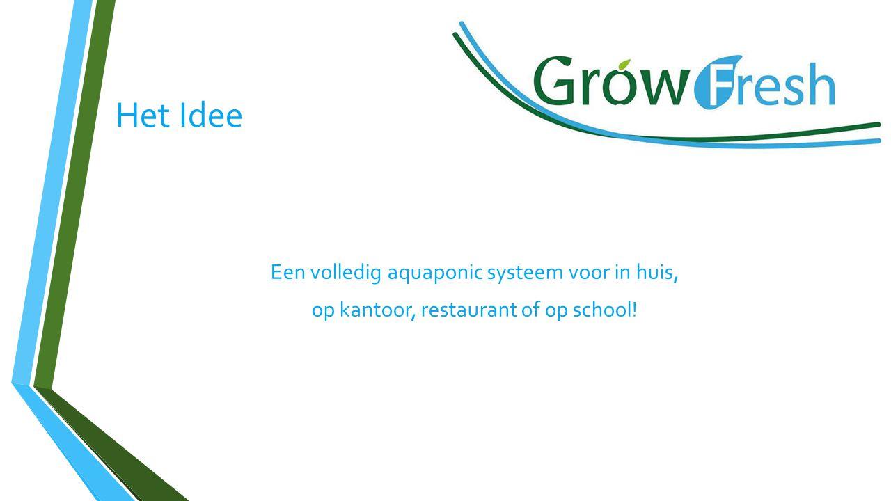Het Idee Een volledig aquaponic systeem voor in huis, op kantoor, restaurant of op school!