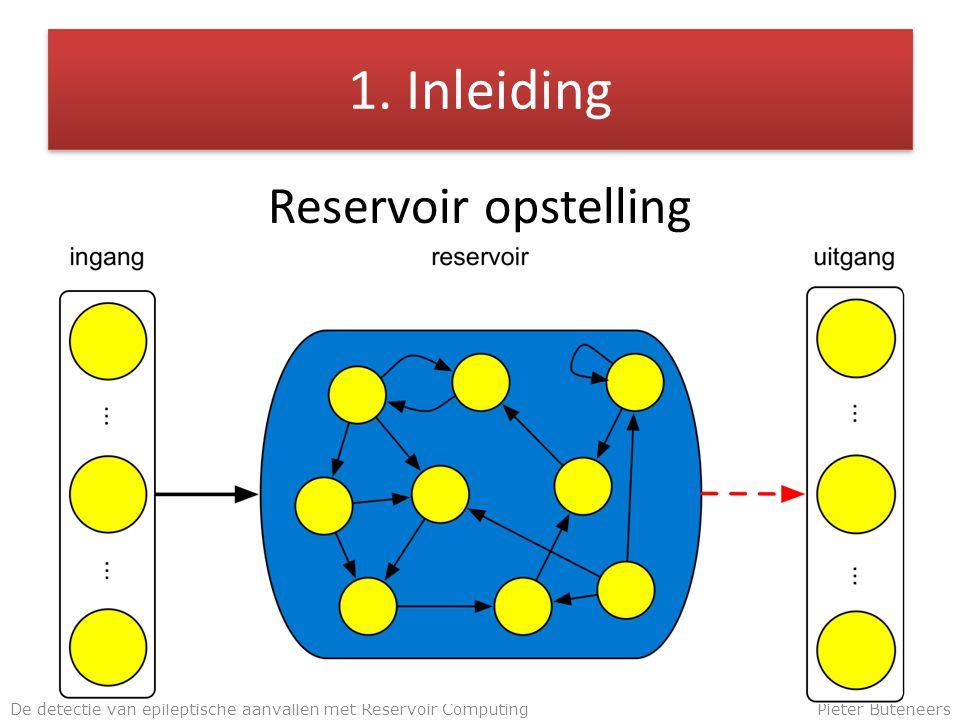 1. Inleiding Reservoir opstelling De detectie van epileptische aanvallen met Reservoir ComputingPieter Buteneers