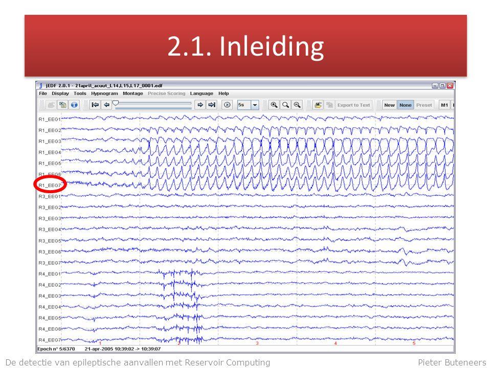 2.1. Inleiding De detectie van epileptische aanvallen met Reservoir ComputingPieter Buteneers