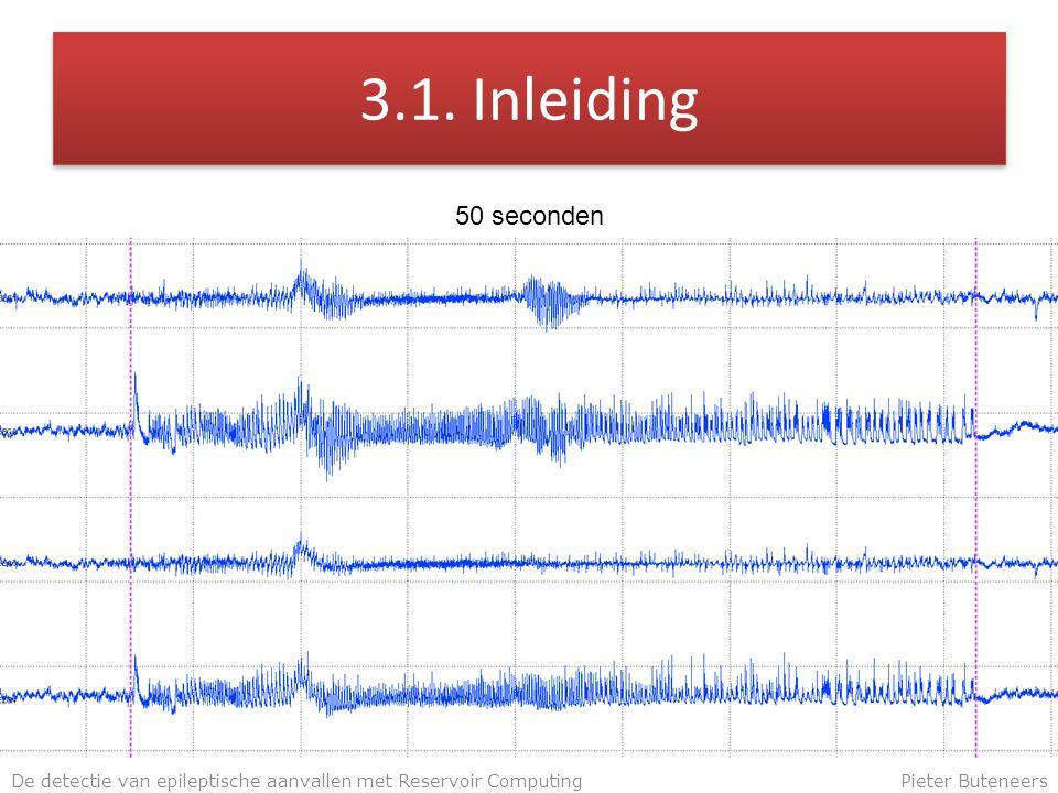 3.1. Inleiding De detectie van epileptische aanvallen met Reservoir ComputingPieter Buteneers 50 seconden