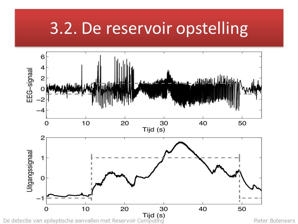 3.2. De reservoir opstelling De detectie van epileptische aanvallen met Reservoir ComputingPieter Buteneers