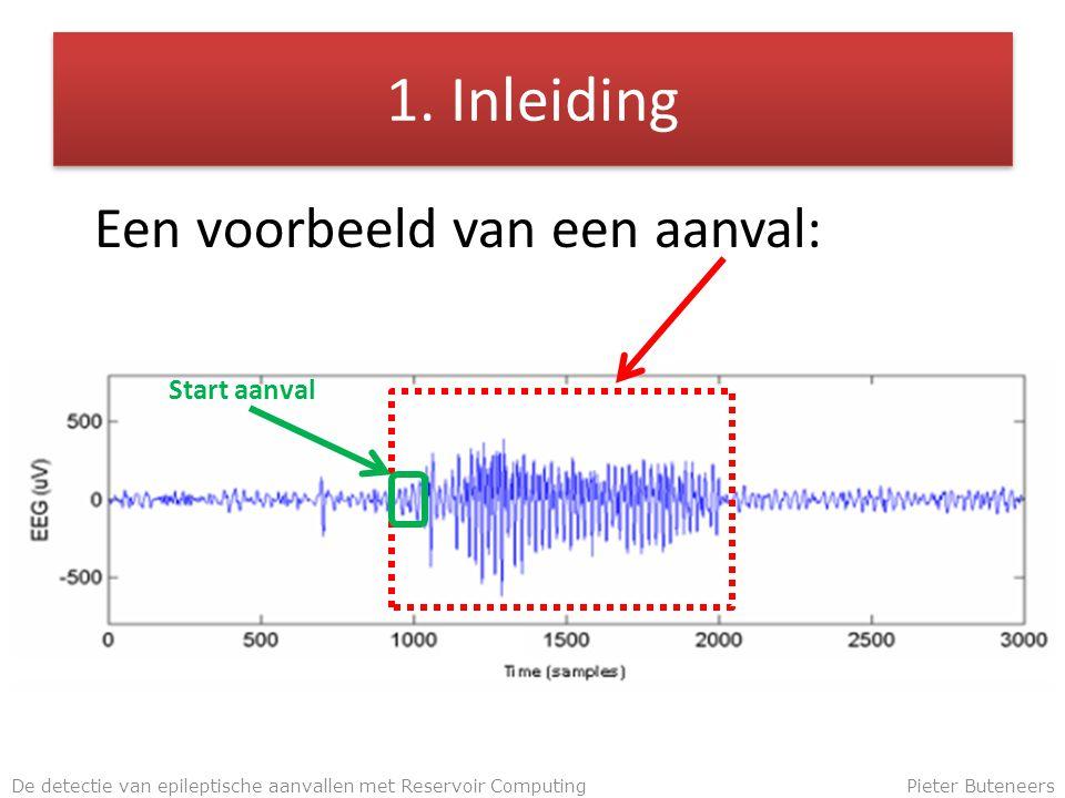 1. Inleiding Een voorbeeld van een aanval: De detectie van epileptische aanvallen met Reservoir ComputingPieter Buteneers Start aanval
