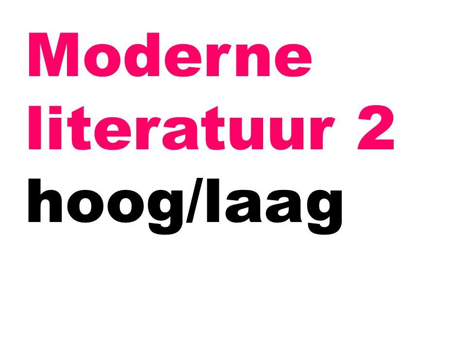 Moderne literatuur 2 hoog/laag
