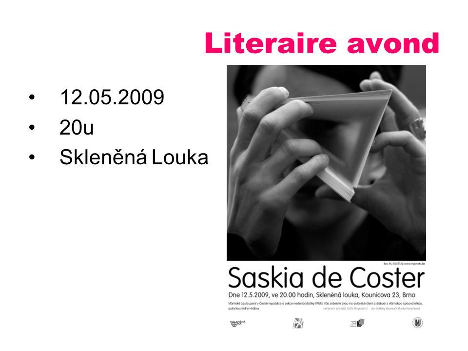 12.05.2009 20u Skleněná Louka Literaire avond