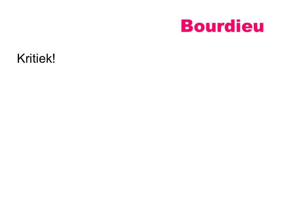Kritiek! Bourdieu