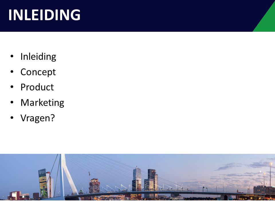 Inleiding Concept Product Marketing Vragen? INLEIDING