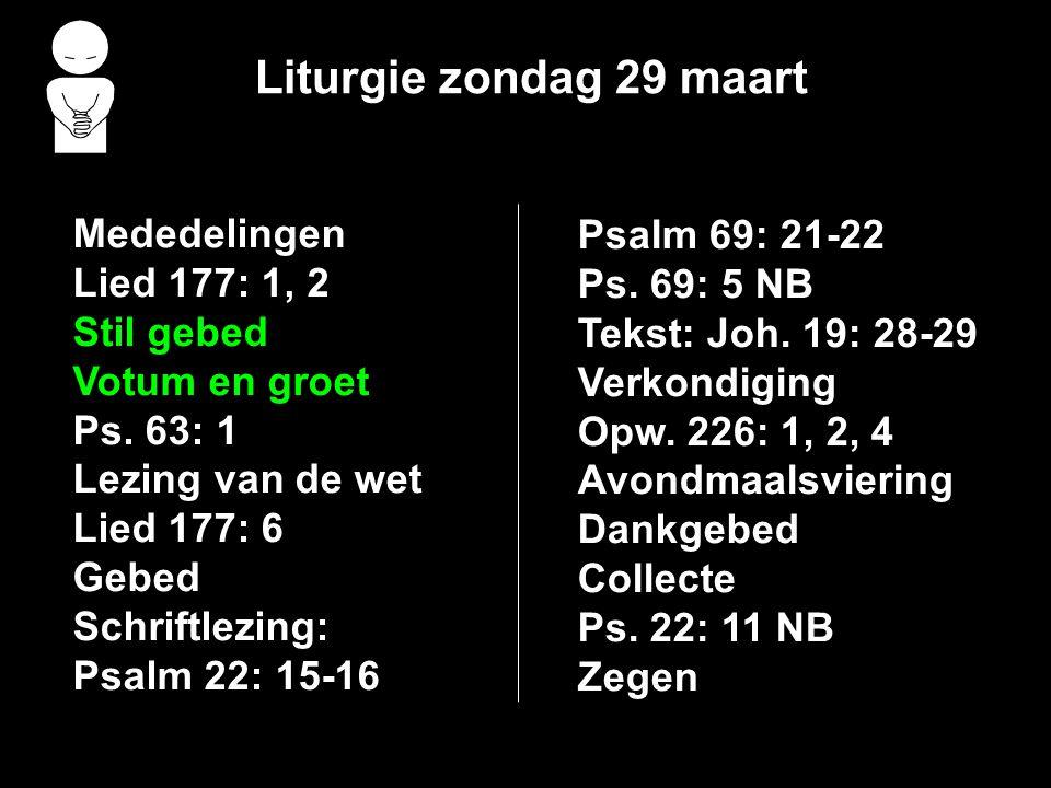 Avondmaalsviering >>> Ps. 23: 1