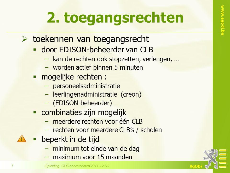 www.agodi.be AgODi 1.online handleiding & veel voorkomende vragen 2.boodschappenvenster & handige links 3.EDISON-helpdesk 6.