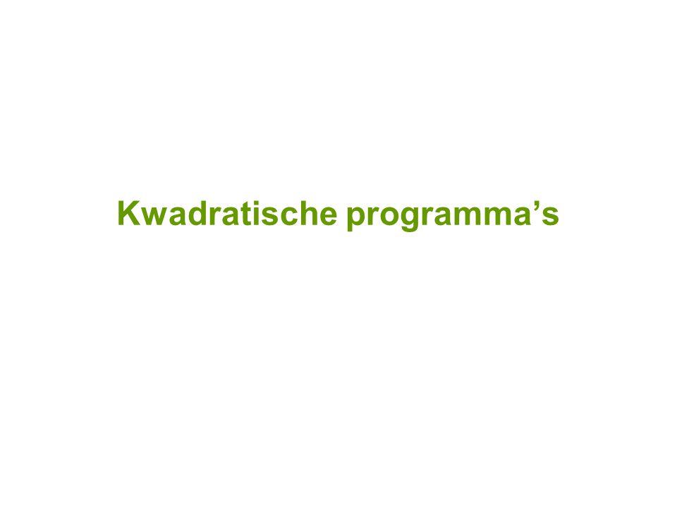 Kwadratische programma's